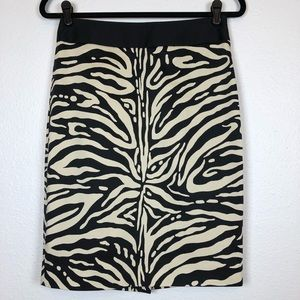 The Limited Skirts - The Limited cream black sateen pencil skirt size 4